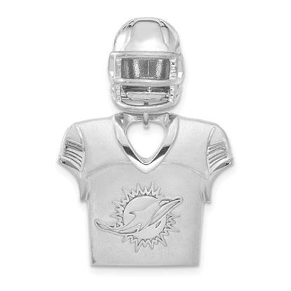 Picture of Miami Dolphins Sterling Silver Jersey and Helmet Pendant