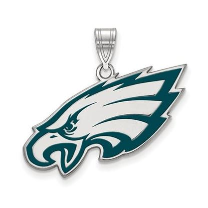 Picture of Philadelphia Eagles Sterling Silver Large Enameled Pendant