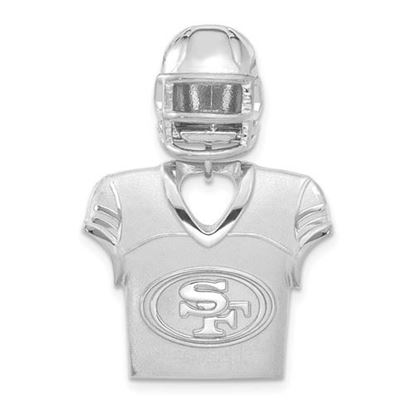 Picture of San Francisco 49ers Sterling Silver  Jersey and Helmet Pendant