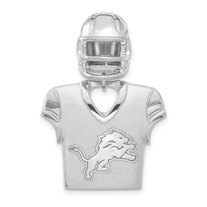 Picture of Detroit Lions Sterling Silver Jersey and Helmet Pendant