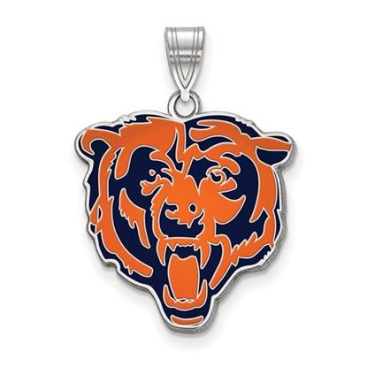 Picture of Chicago Bears Sterling Silver Large Enameled Pendant