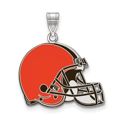 Picture of Cleveland Browns Sterling Silver Large Enameled Pendant