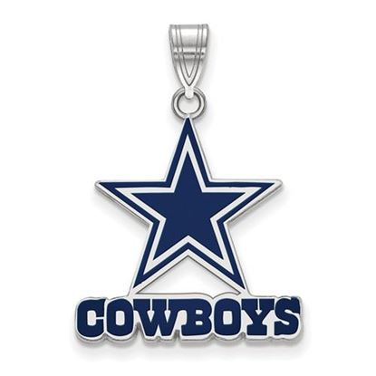 Picture of Dallas Cowboys Sterling Silver Large Enameled Pendant