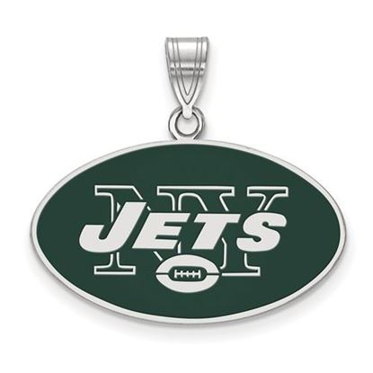 Picture of New York Jets Sterling Silver Large Enameled Pendant