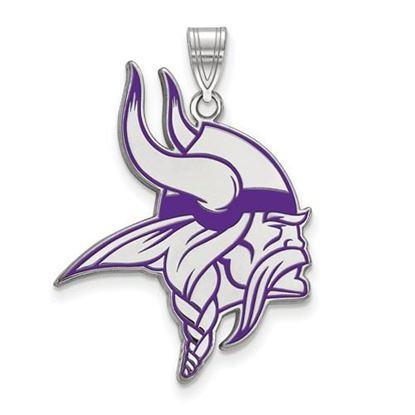 Picture of Minnesota Vikings Sterling Silver Large Enameled Pendant
