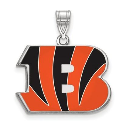 Picture of Cincinnati Bengals Sterling Silver Large Enameled Pendant
