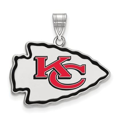 Picture of Kansas City Chiefs Sterling Silver Large Enameled Pendant