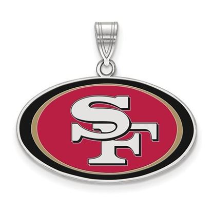 Picture of San Francisco 49ers Sterling Silver  Large Enameled Pendant