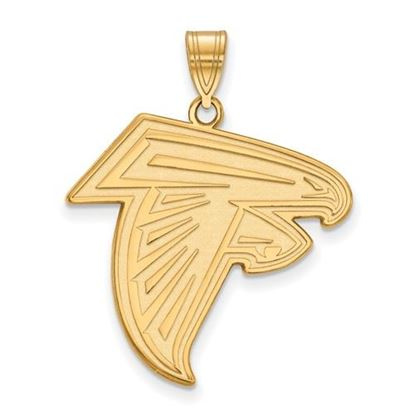 Picture of Atlanta Falcons Sterling Silver Gold Plated Large Pendant