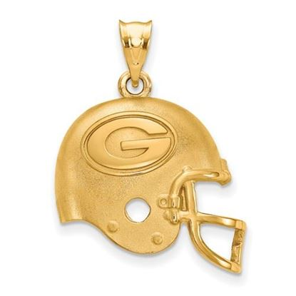 Picture of Green Bay Packers Sterling Silver Gold Plated Helmet Pendant