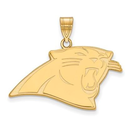 Picture of Carolina Panthers Sterling Silver Gold Plated Large Pendant
