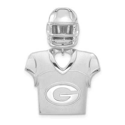 Picture of Green Bay Packers Sterling Silver Jersey and Helmet Pendant