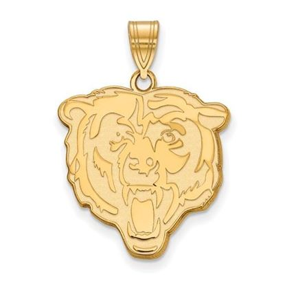 Picture of Chicago Bears Sterling Silver Gold Plated Large Pendant
