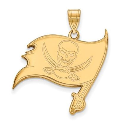 Picture of Tampa Bay Buccaneers Sterling Silver Gold Plated Large Pendant