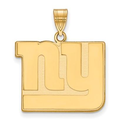 Picture of New York Giants Sterling Silver Gold Plated Large Pendant