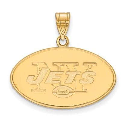 Picture of New York Jets Sterling Silver Gold Plated Large Pendant