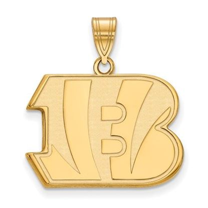 Picture of Cincinnati Bengals Sterling Silver Gold Plated Large Pendant