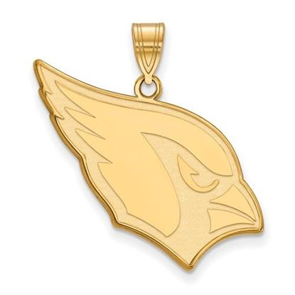 Picture of Arizona Cardinals Sterling Silver Gold Plated Large Pendant