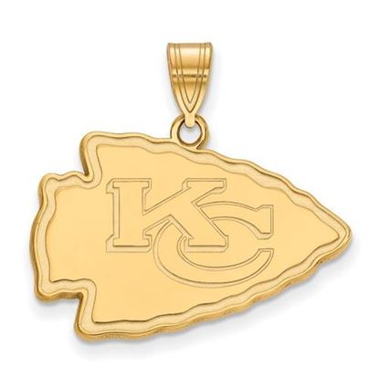 Picture of Kansas City Chiefs Sterling Silver Gold Plated Large Pendant