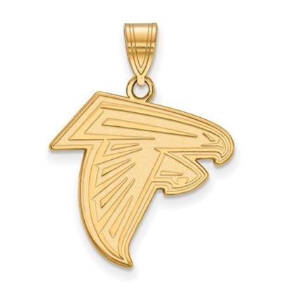 Picture of Atlanta Falcons Sterling Silver Gold Plated Medium Pendant
