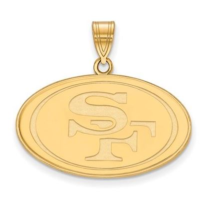 Picture of San Francisco 49ers Sterling Silver Gold Plated  Large Pendant