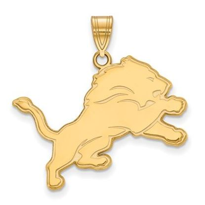 Picture of Detroit Lions Sterling Silver Gold Plated Large Pendant