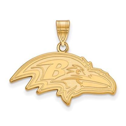 Picture of Baltimore Ravens Sterling Silver Gold Plated Large Pendant