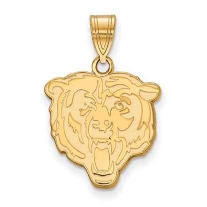 Picture of Chicago Bears Sterling Silver Gold Plated Medium Pendant