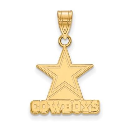 Picture of Dallas Cowboys Sterling Silver Gold Plated Medium Pendant