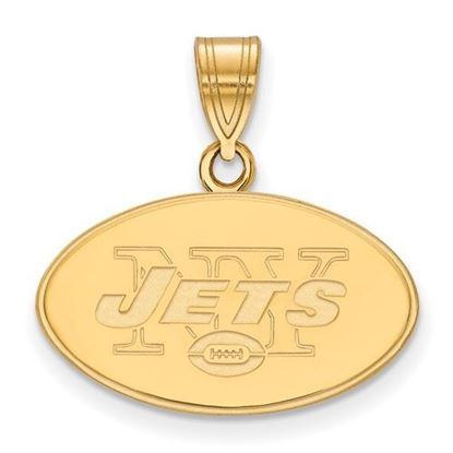 Picture of New York Jets Sterling Silver Gold Plated Medium Pendant