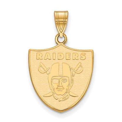 Picture of Oakland Raiders Sterling Silver Gold Plated Medium Pendant