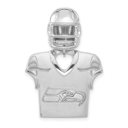 Picture of Seattle Seahawks Sterling Silver Seattle Seahawks Jersey and Helmet Pendant