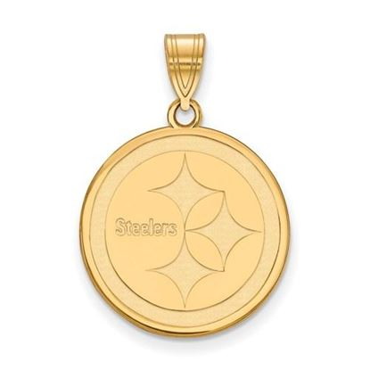 Picture of Pittsburgh Steelers Sterling Silver Gold Plated Medium Pendant