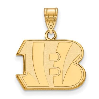 Picture of Cincinnati Bengals Sterling Silver Gold Plated Medium Pendant