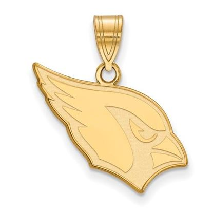 Picture of Arizona Cardinals Sterling Silver Gold Plated Medium Pendant