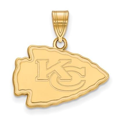 Picture of Kansas City Chiefs Sterling Silver Gold Plated Medium Pendant