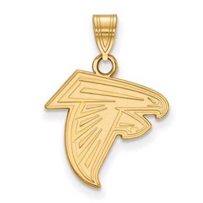 Picture of Atlanta Falcons Sterling Silver Gold Plated Small Pendant