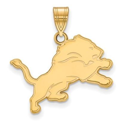 Picture of Detroit Lions Sterling Silver Gold Plated Medium Pendant
