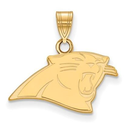 Picture of Carolina Panthers Sterling Silver Gold Plated Small Pendant