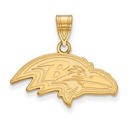 Picture of Baltimore Ravens Sterling Silver Gold Plated Medium Pendant