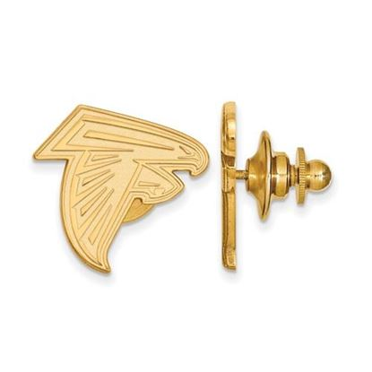 Picture of Atlanta Falcons Sterling Silver Gold Plated Lapel Pin