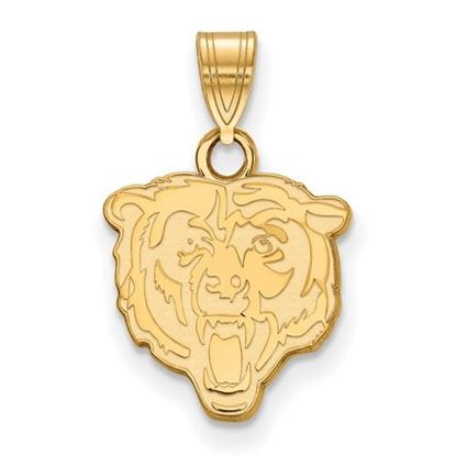 Picture of Chicago Bears Sterling Silver Gold Plated Small Pendant