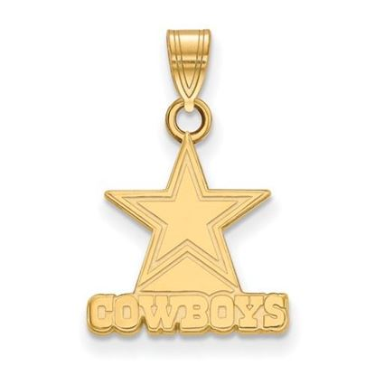 Picture of Dallas Cowboys Sterling Silver Gold Plated Small Pendant