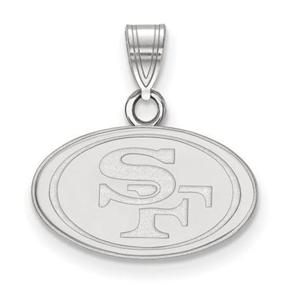 Picture of San Francisco 49ers Sterling Silver  Small Pendant