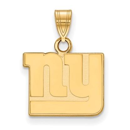 Picture of New York Giants Sterling Silver Gold Plated Small Pendant