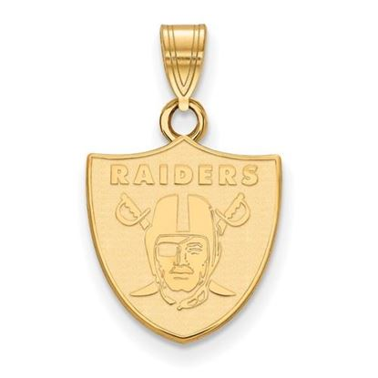Picture of Oakland Raiders Sterling Silver Gold Plated Small Pendant
