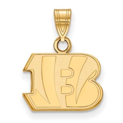 Picture of Cincinnati Bengals Sterling Silver Gold Plated Small Pendant