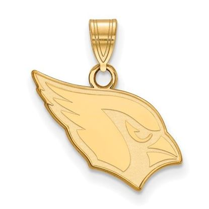 Picture of Arizona Cardinals Sterling Silver Gold Plated Small Pendant