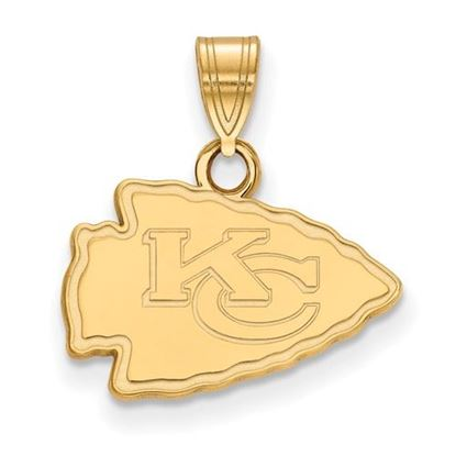 Picture of Kansas City Chiefs Sterling Silver Gold Plated Small Pendant