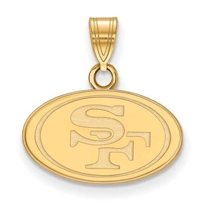 Picture of San Francisco 49ers Sterling Silver Gold Plated  Small Pendant